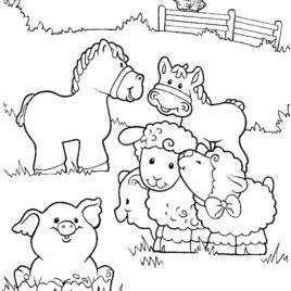 Printable Farm Animal Coloring Sheet For Kids