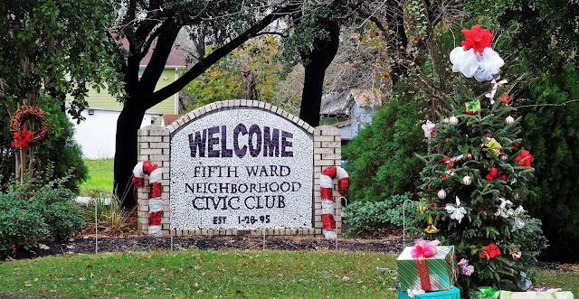 Fifth Ward Neighborhood Civil Club (signage)