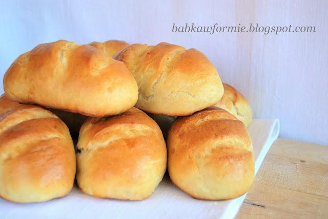 buleczki bułki maślane mleczne drożdżowe śniadaniowe babkawformie.blogspot.com
