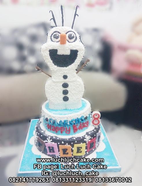 Kue Tart Tingkat Tema Olaf Frozen