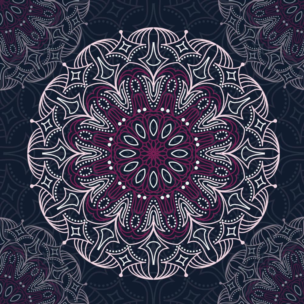 Circular mandala pattern