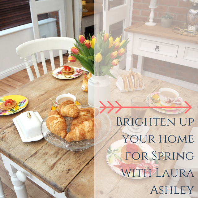 How I have used decor and accessories to brighten up my home for the new spring season. Featuring some beautiful, floral kitchen and dining items from Laura Ashley to add colour and warmth to my small, gloomy dining room.