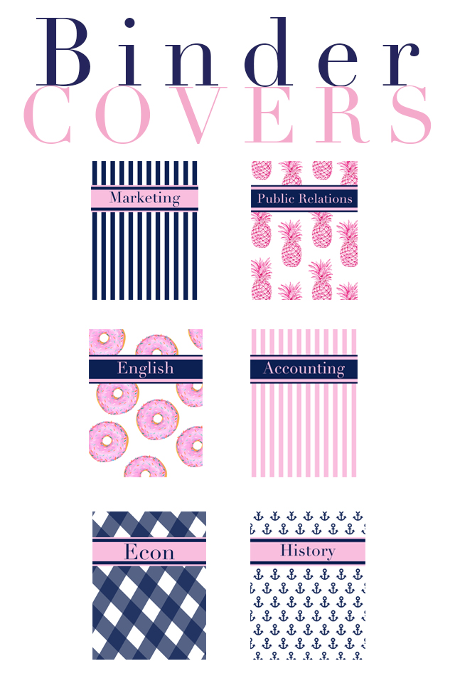 Binder Cover Free Download - Preptista - english binder cover