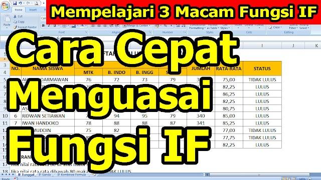 3 Macam Fungsi IF pada Microsoft Excel