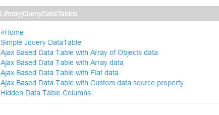 Liferay jQuery Data Table ~ Liferay Savvy