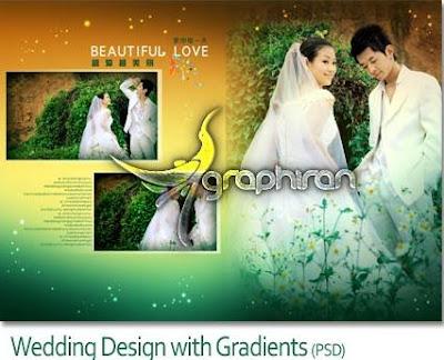 WEDDING FRAME PSD WITH GRADIENT DESIGN