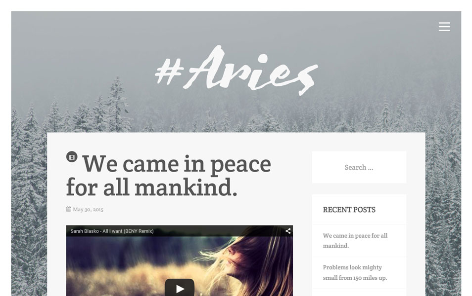 Aries Responsive WordPress Theme