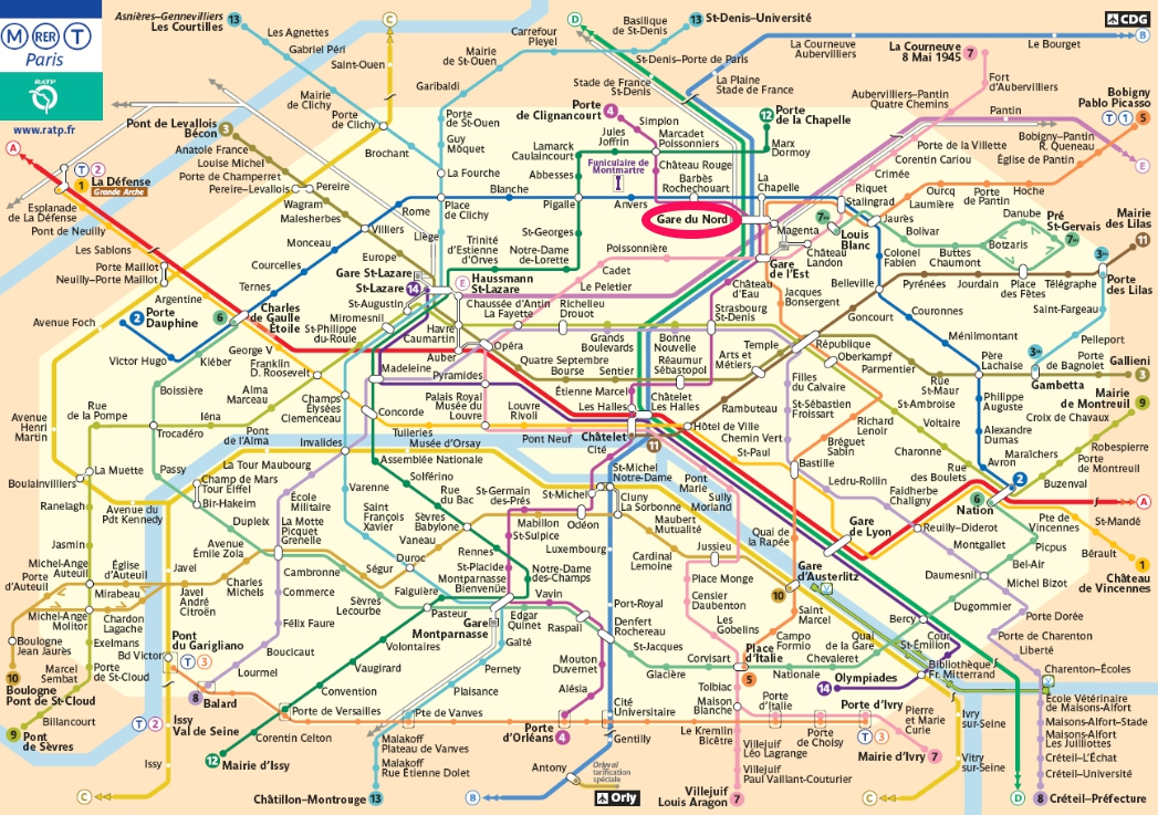 Gard Du Nord Paris Map.Transports In France Taxi Gare Du Nord Insights