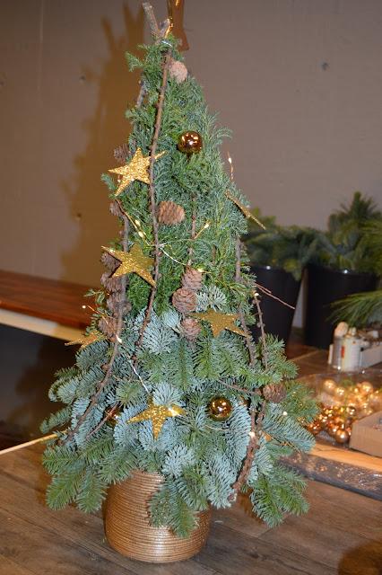 Mange juletrær som vises frem