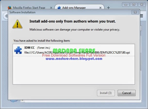 Internet download manager for firefox
