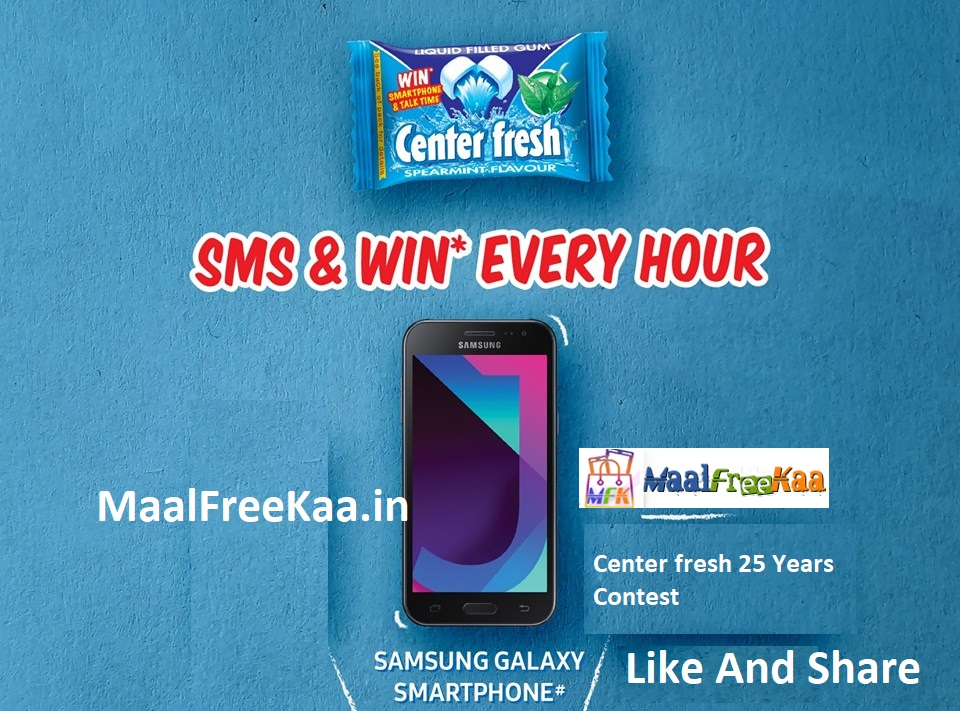 Center Fresh 25 Years Contest Win Samsung Galaxy J4 Smartphone