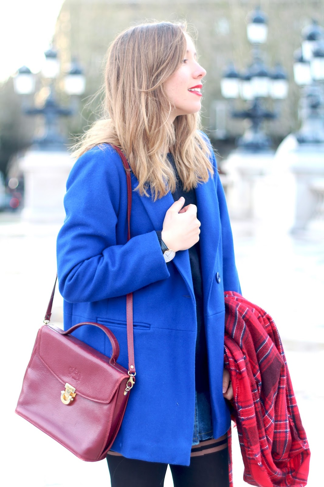 Tenue hiver manteau bleu