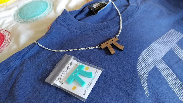 Pi shirt and pi necklace