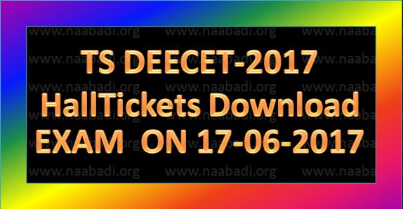 TS DEECET-2017 HallTickets Download Exam on 17th June,2017