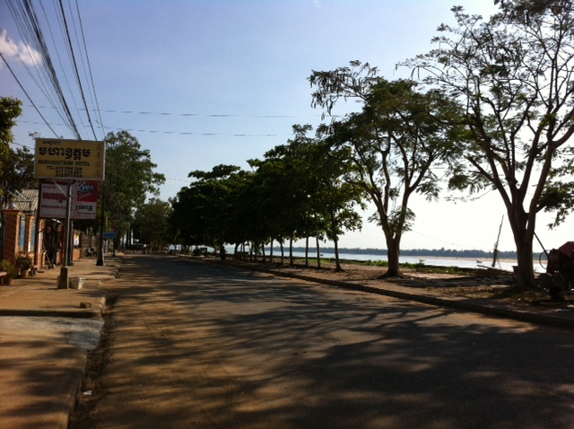 Boulevard of Kratie in Cambodia