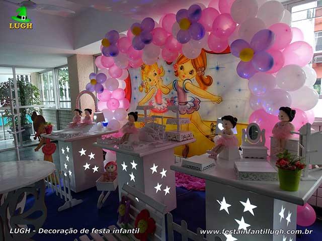 Decoração de aniversário infantil Bailarinas - Mesa temática