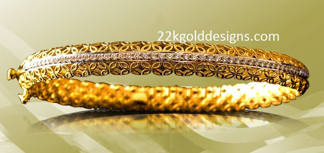 Gold Screw Bangle