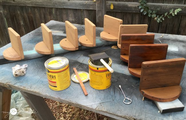 staining wood planters
