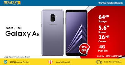 Samsung Galaxy A8 (2018) A530FD, 4G Dual Sim, 64GB, Orchid Gray