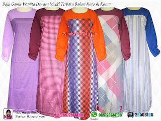Baju muslim model gamis terbaru untuk wanita dewasa merk oka oke dengan bahan kaos kombinasi katun berkualitas bagus harga murah baik grosir maupun ecer dan tersedia di Solo, Jogja, Jakarta, Surabaya, Semarang, Klaten dll.
