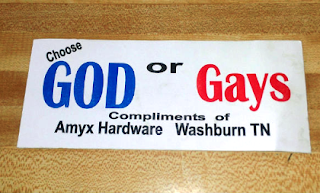 Anti-Gay Stickers