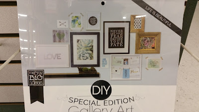DIY living room gallery wall