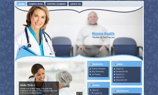 Mature Health Blogger Template