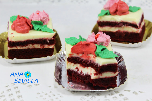 Pastelitos red velvet con thermomix
