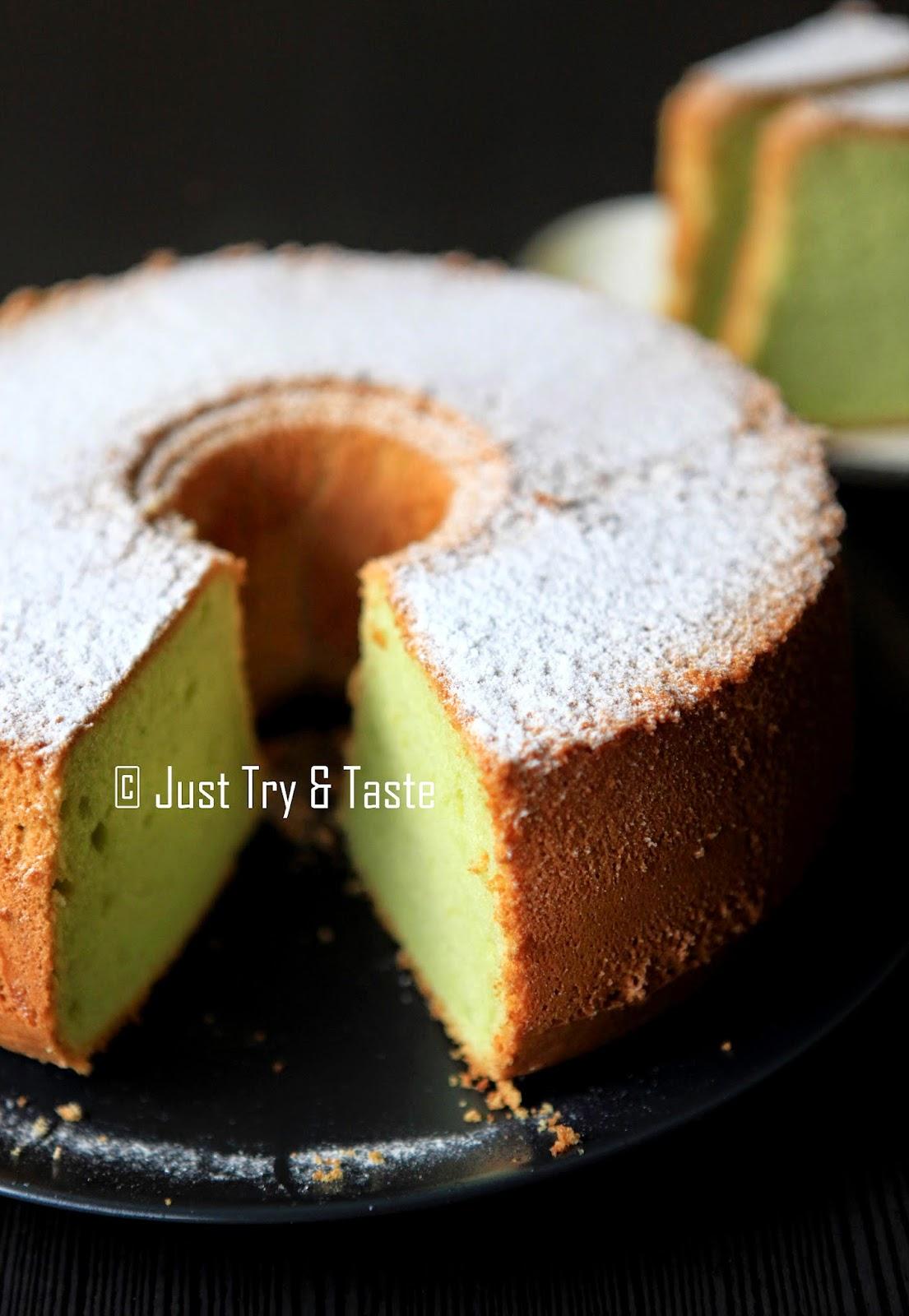 Pandan Chiffon Cake Amp Tips Sukses Membuatnya Just Try