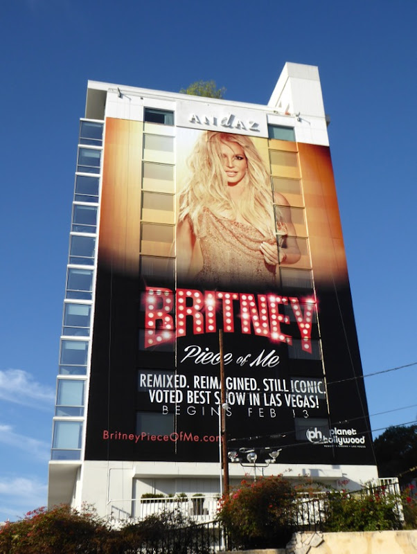 Giant Britney Spears Piece of Me Las Vegas 2016 billboard