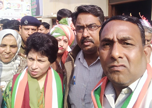 Haryana Congress Convenor Ashok Rawal sought votes for Randeep Surjewala in Jind