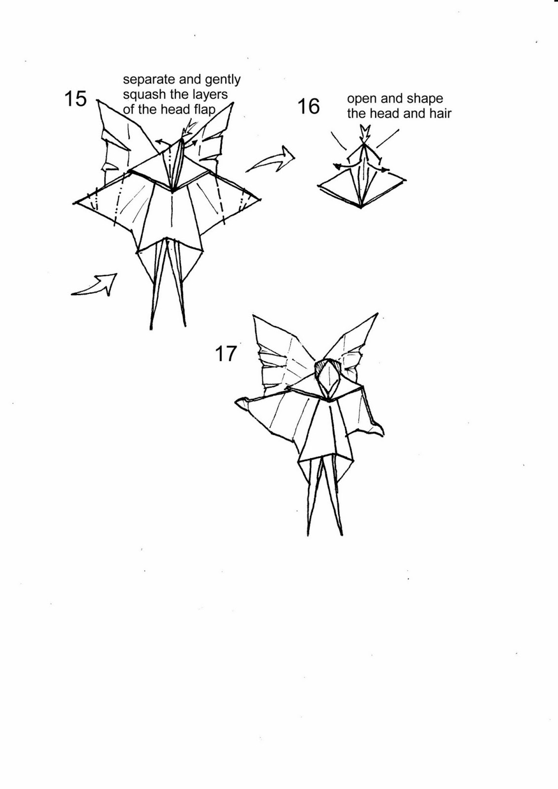 3d origami diagram animals square d hand off auto switch wiring christmas tree fairy   paper guide