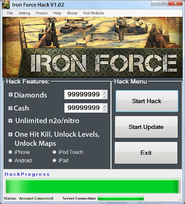 Download Free Iron Force (All Versions) Hack Unlimited Diamonds,Cash,Nitro,All Levels Unlocked,Unlock Map 100% working and Tested for IOS and Android MOD.
