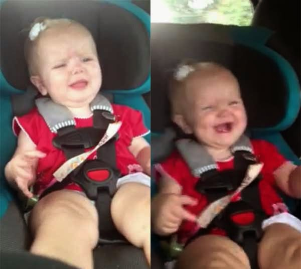 Baby stops crying because of Katy Perry song