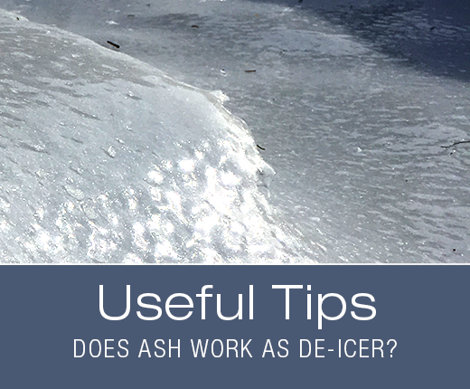 Useful Tips: Does Ash Work as De-Icer?