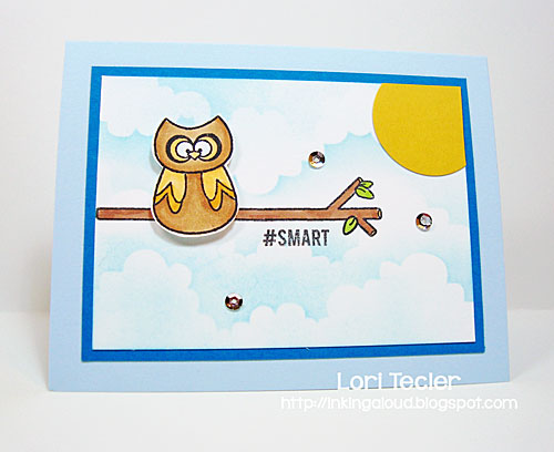 #Smart card-designed by Lori Tecler/Inking Aloud-stamps from Sweet Stamp Shop