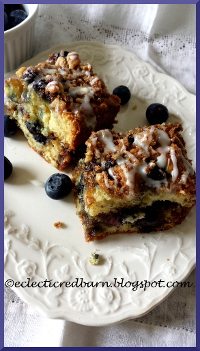 Eclectic Red Barn:Coffee Cake withBlueberries and a Nut Streusel