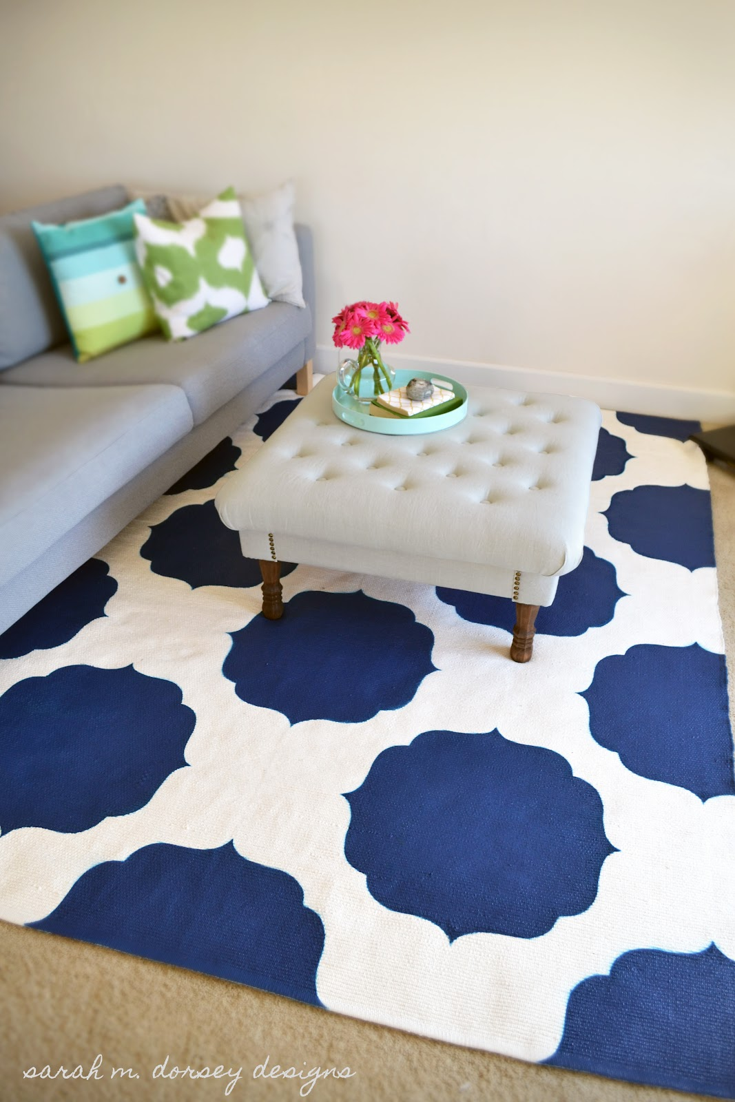DIY Stenciled Morrocan Rug - The 36th AVENUE