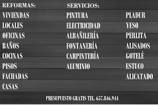 reformas y servicios en Málaga