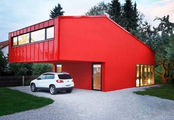 House V in Munich-Unterfoehring, Germany.