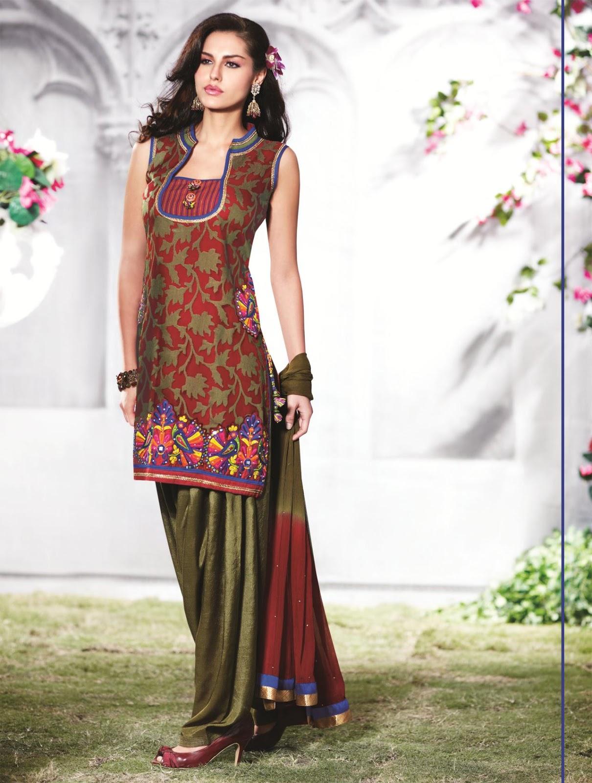 Punjabi Simple Salwar Kameez New Design for girls - Sari Info