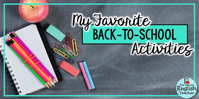 My Favorite Back-to-School Activities for the ELA classroom