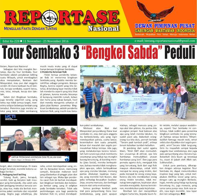 Tour Sembako 3 Bengkel Sabda Reportase Nasional