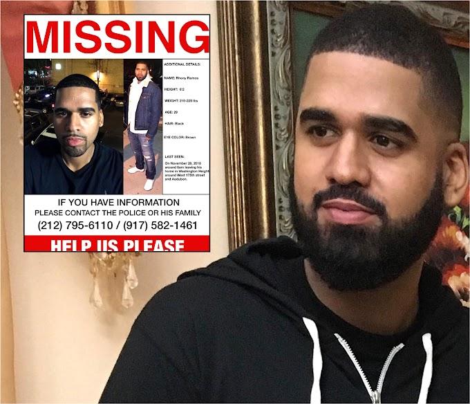 Aparece muerto en río dominicano desaparecido hace más de dos meses en el Alto Manhattan