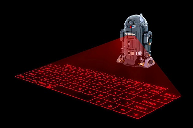 Teclado virtual  R2-Q5 de Star Wars.