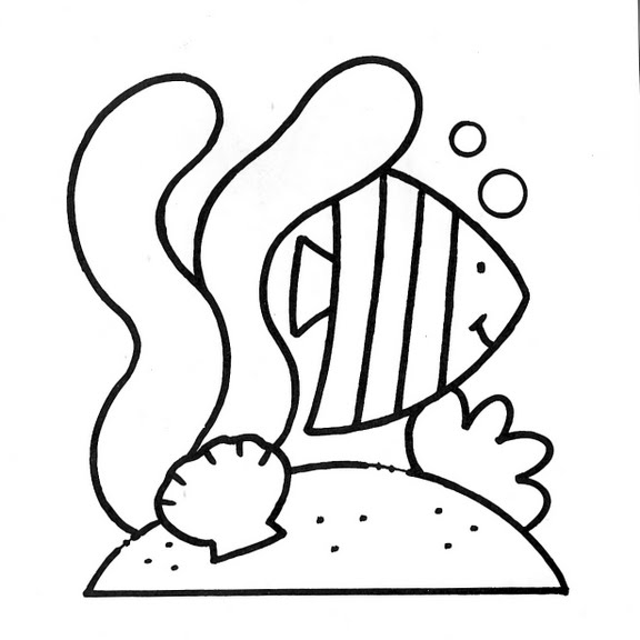 Dibujos infantiles: Dibujo infantil pez