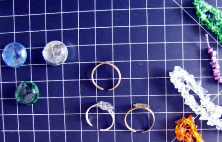 1 material DIY stones ring