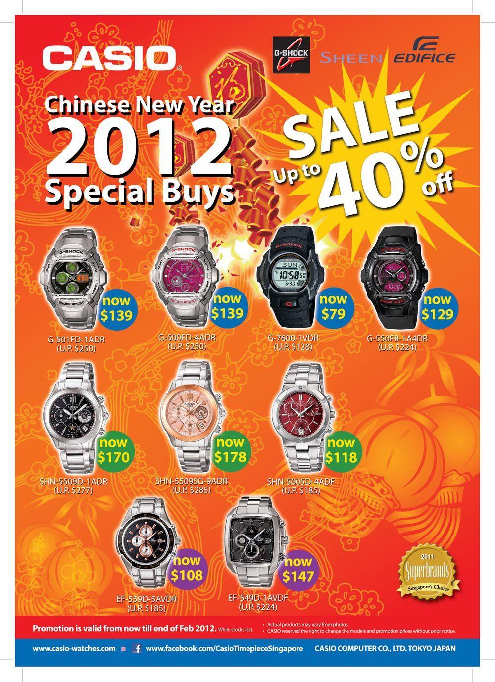 0fa709b6bfa1 Casio Singapur ha decidido celebrar el nuevo año chino rebajando algunos de  los precios de sus relojes hasta un 40% (relojes que se compren en sus ...