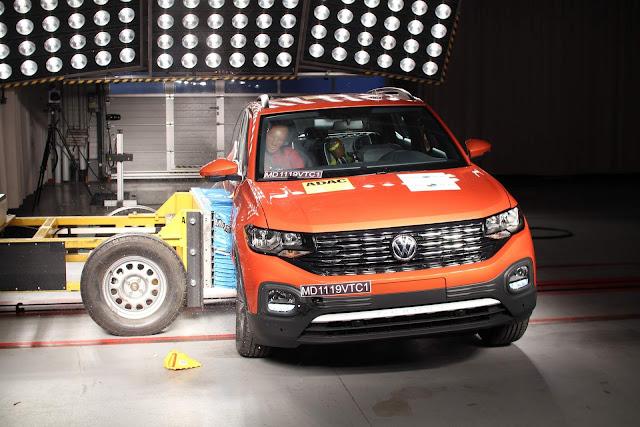Volkswagen T-Cross ganha 10 estrelas no Latin NCAP