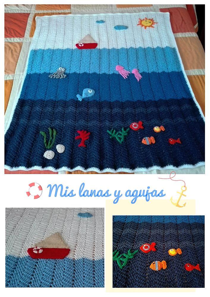Mis lanas y agujas: Manta para bebé